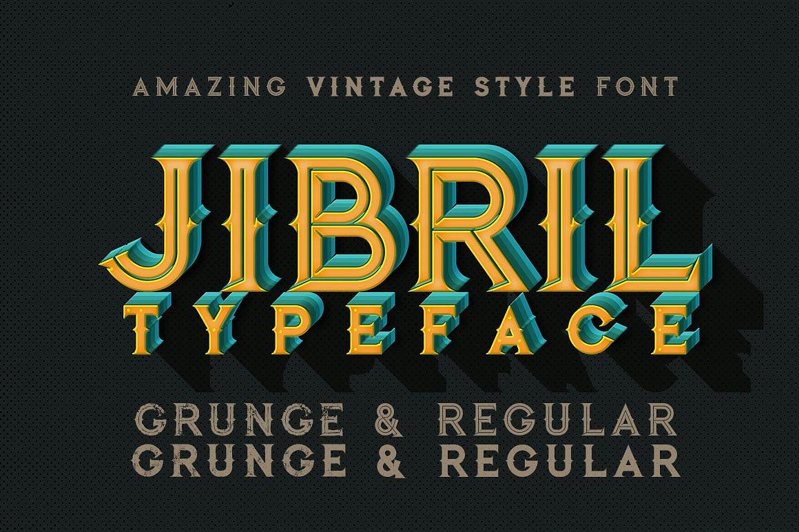 Jibril Vintage Style Font
