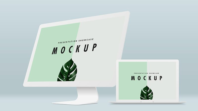 Macbook Pro iMac Mockup Template