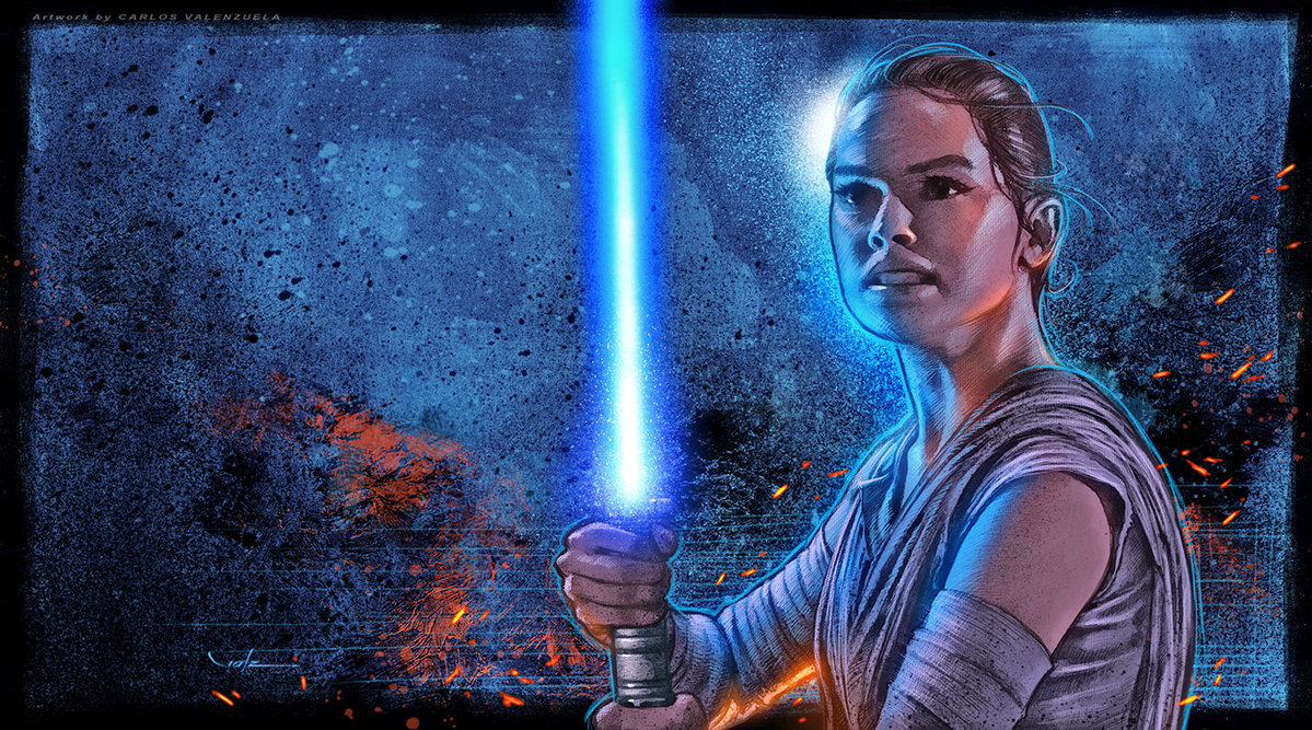 rey star wars art wallpaper