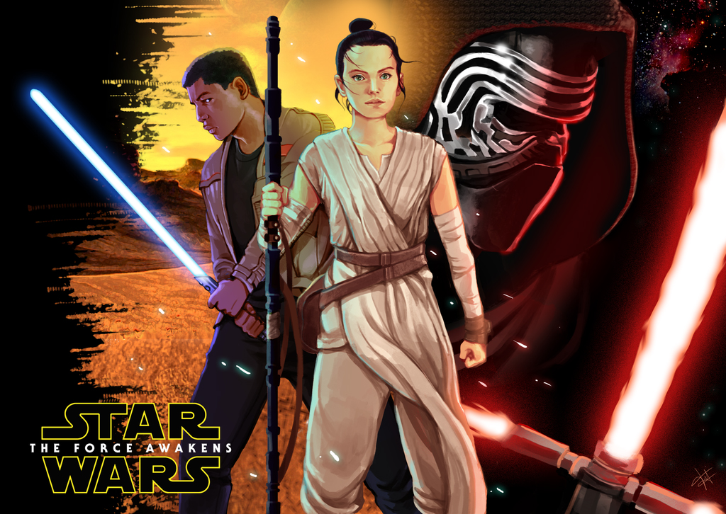 rey the force awakens star wars wallpaper