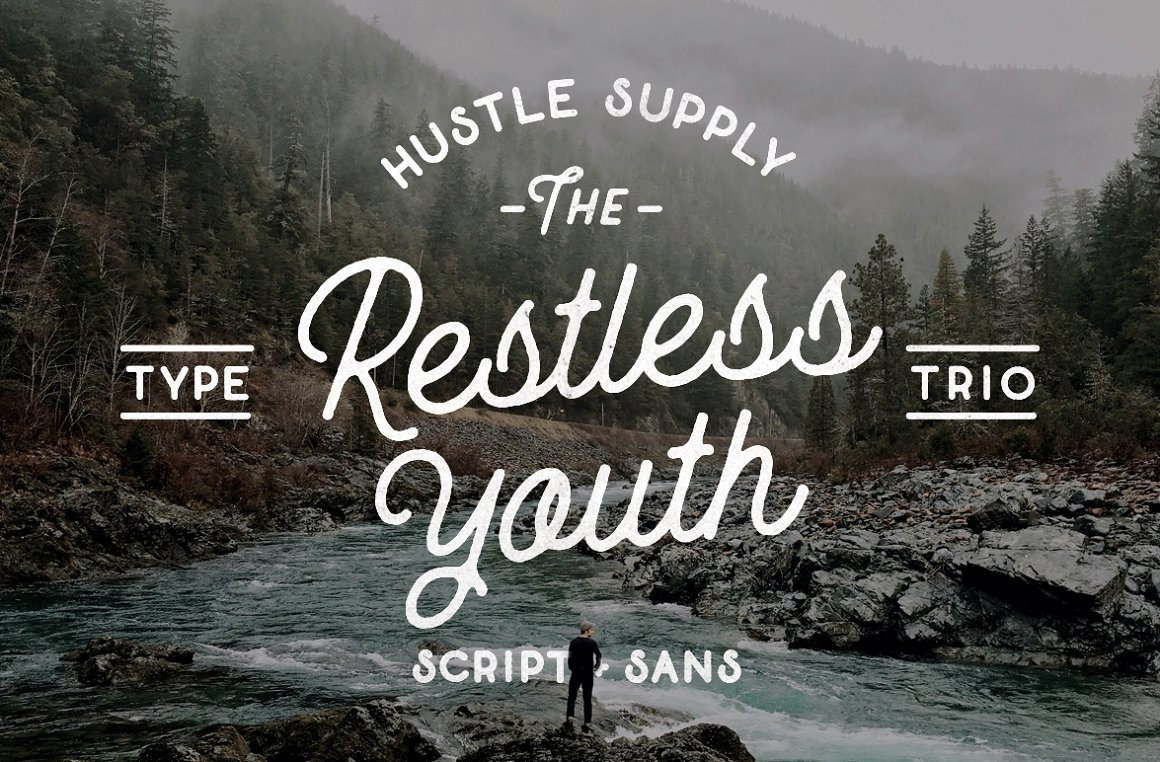 The Restless Youth Font Bundle