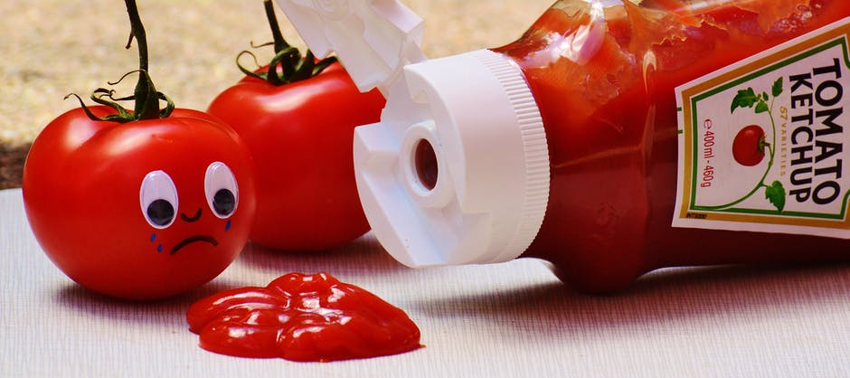 tomatoes ketchup sad