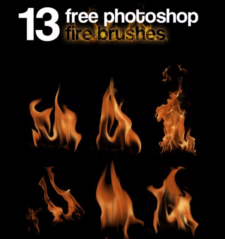 13 Free Photoshop Fire Brushes