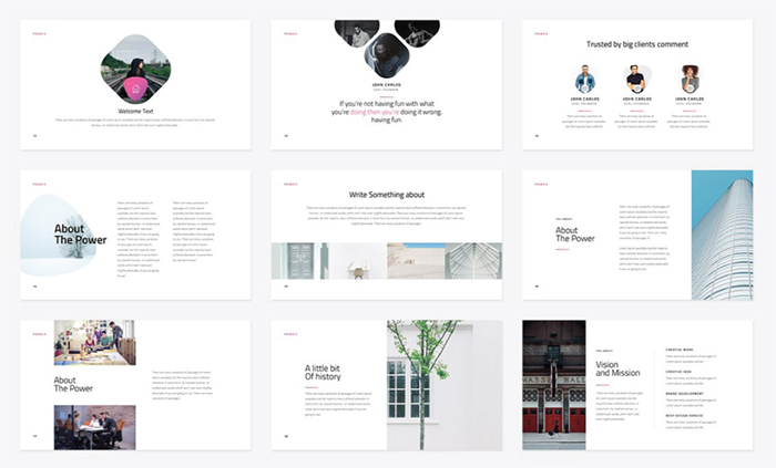 27 free company profile powerpoint templates for presentations for Minimalist powerpoint template free