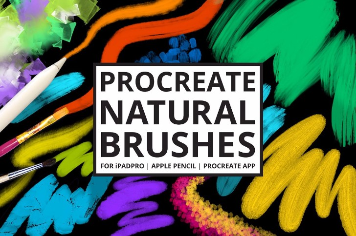 30 Procreate 4 Natural Media Brushes