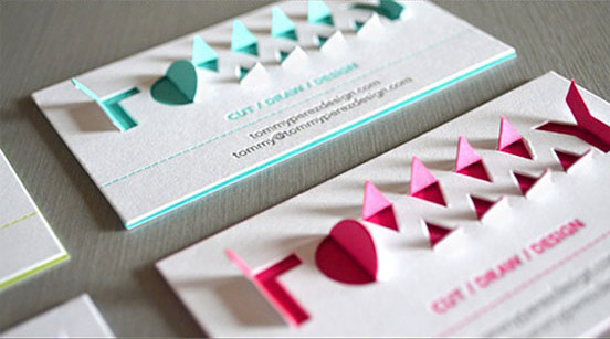 3D Pop Up Typography Business Card
