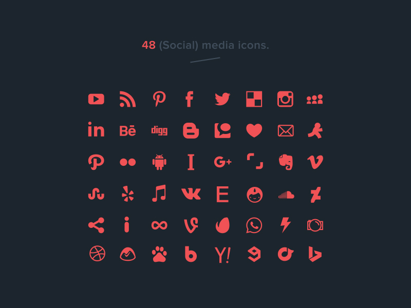 48 Free Social Media Vector Icons