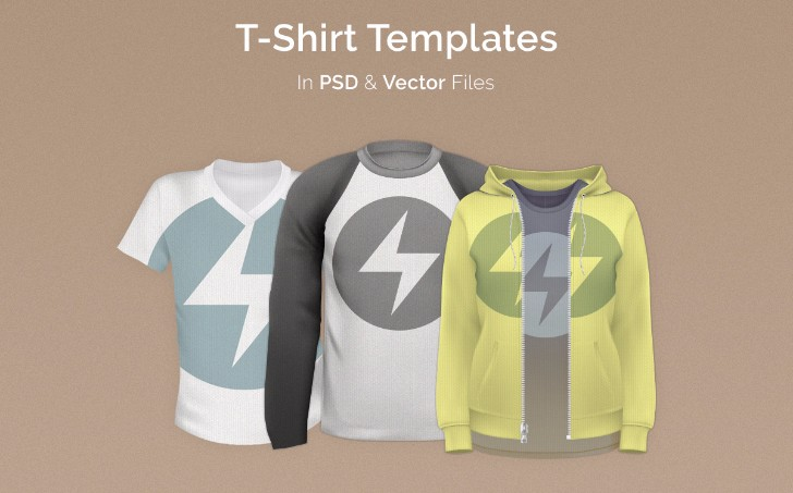 50 Plus Free TShirt Template Pack