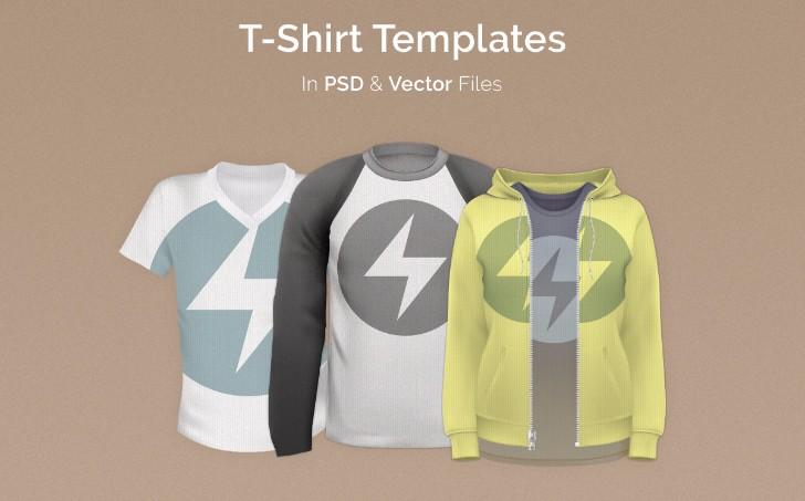 50 Plus Free TShirt Template Pack