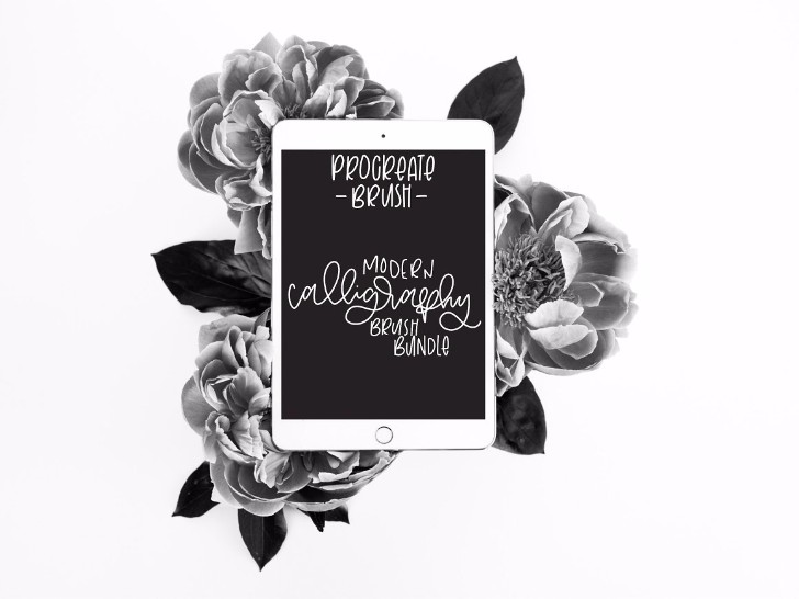 8 Mod Calligraphy Brushes Procreate