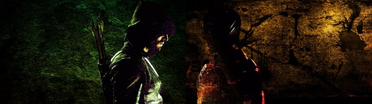 Arrow and the Flash Dual Monitor wallpaper