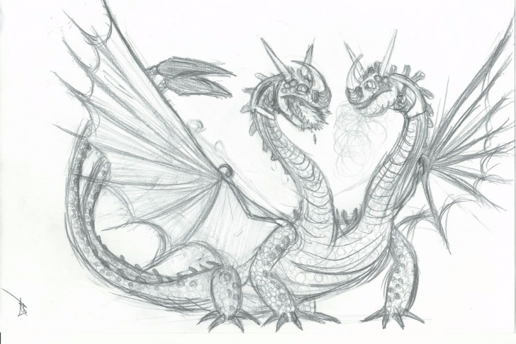 Art Dragon Pencil Sketch Drawing