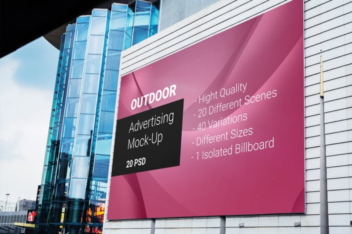 Billboard Outdoor Advertising MockUp