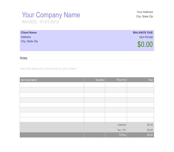receipt template microsoft word