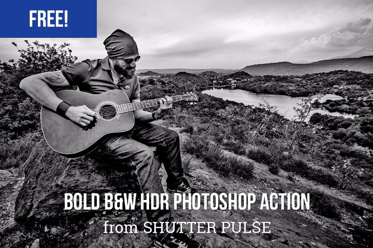 Bold B W HDR Photoshop Action