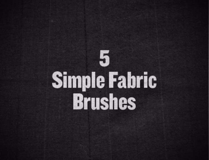 BRUSHES Freebie Friday 5 Simple Fabric Brushes