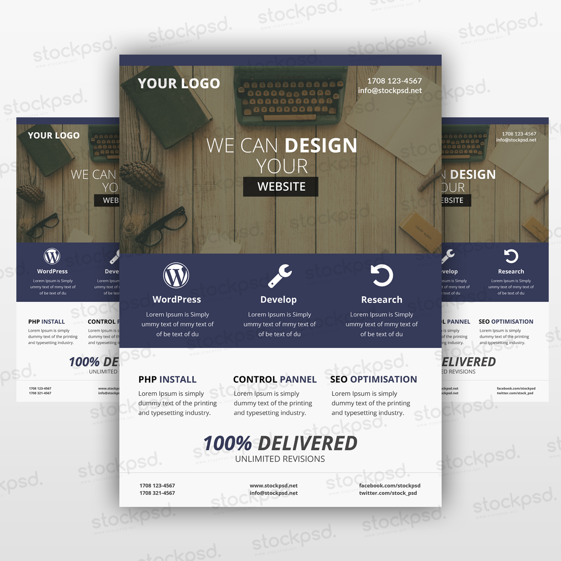 Business Flyer 05 Freebie PSD Template
