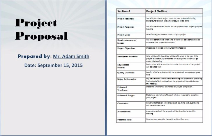 Amazing Business Project Proposal Template