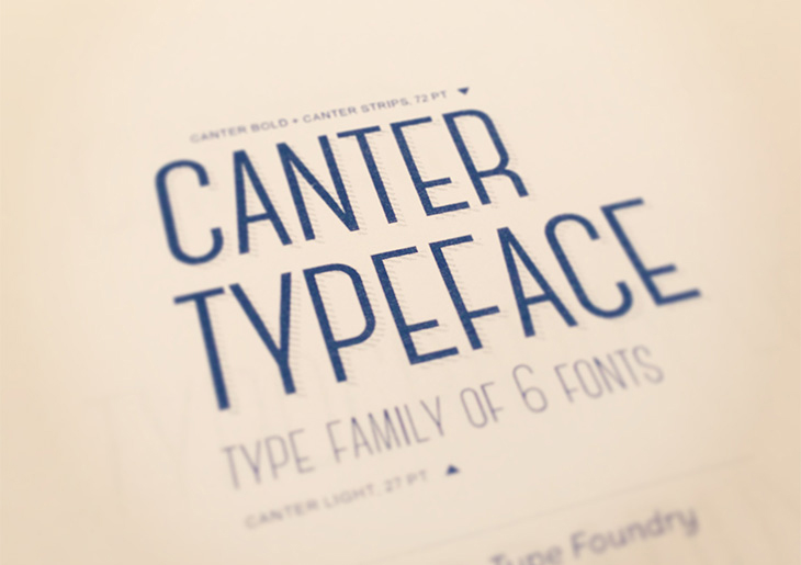 canter hipster font