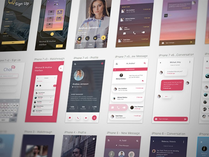 Chat App UI Kit Sketch Resource
