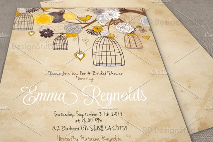 Closeup invitation card mockup