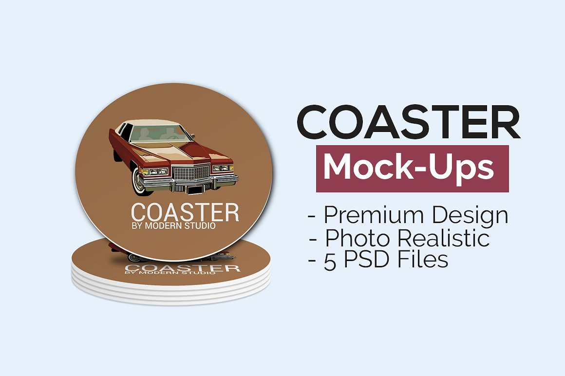 Coaster Mock Ups design