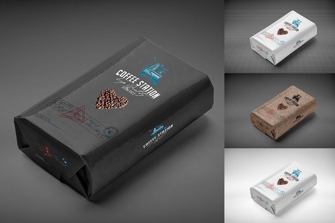 Coffee Bag MockUp Template