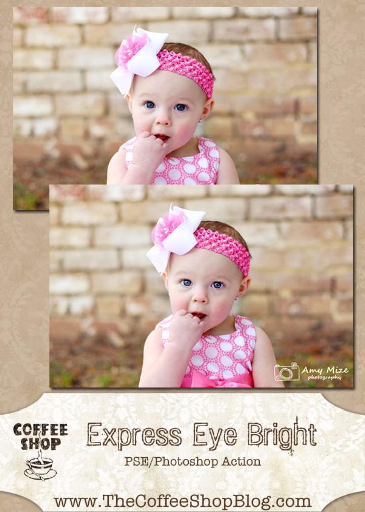 CoffeeShop Express Eye Bright PSE Photoshop Action