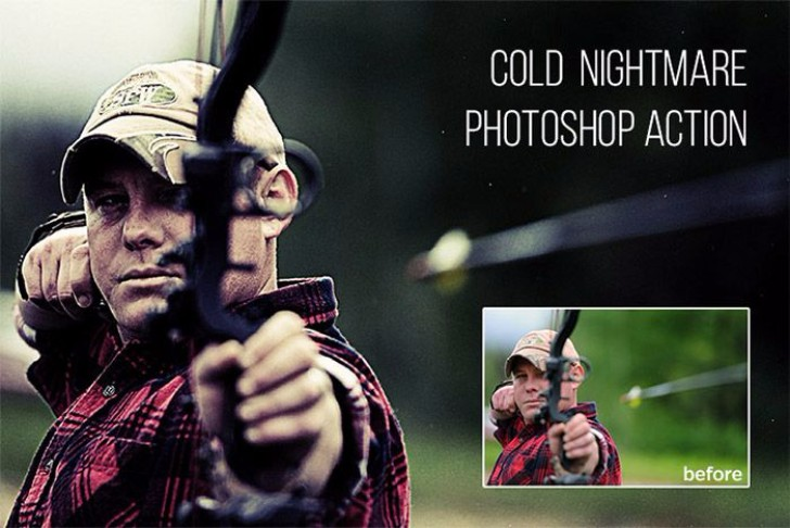 Cold Nightmare Free Photoshop Action
