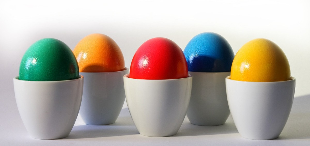 Color Cups Eggs