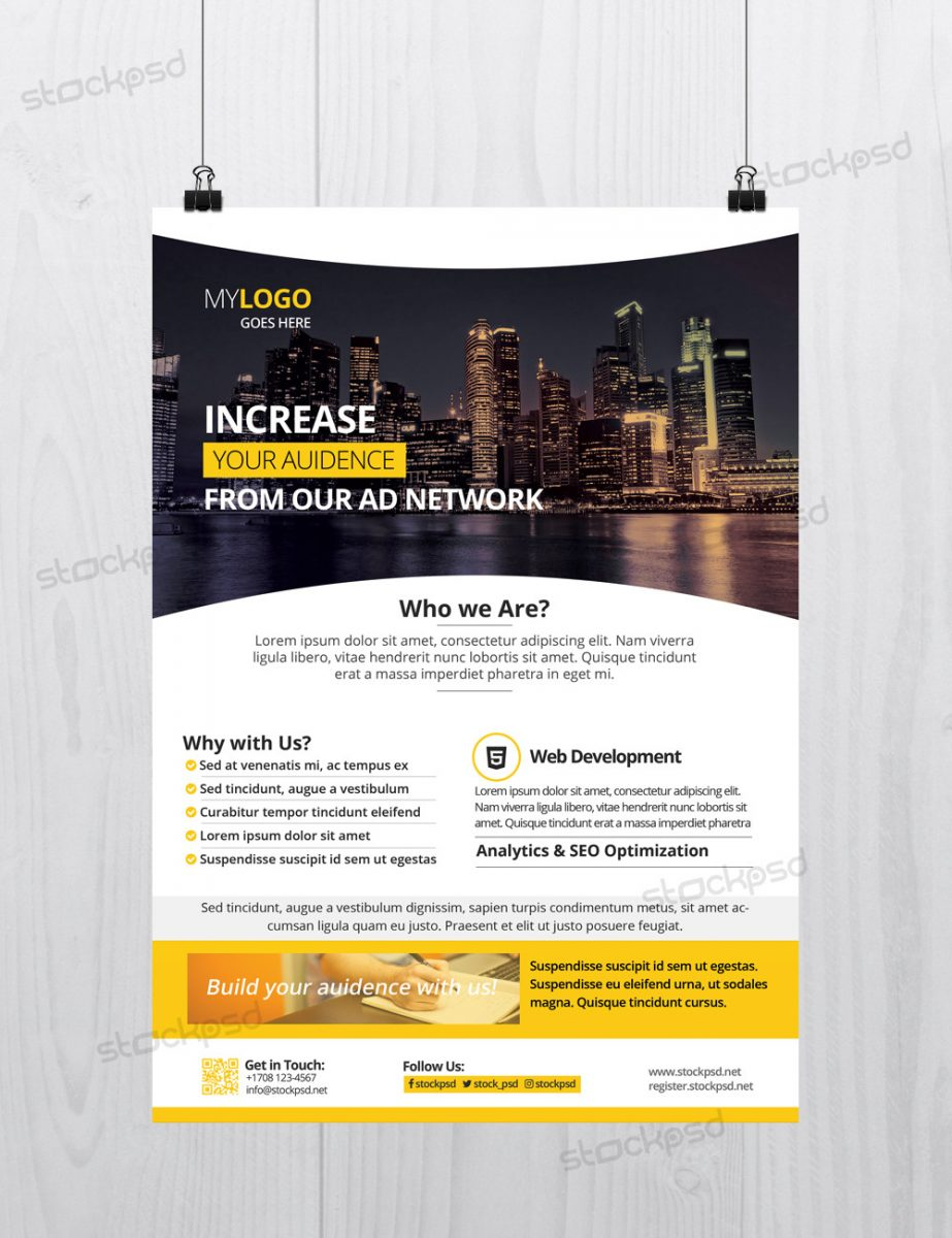 25 free business flyer templates for photoshop mashtrelo for Photoshop brochure template free