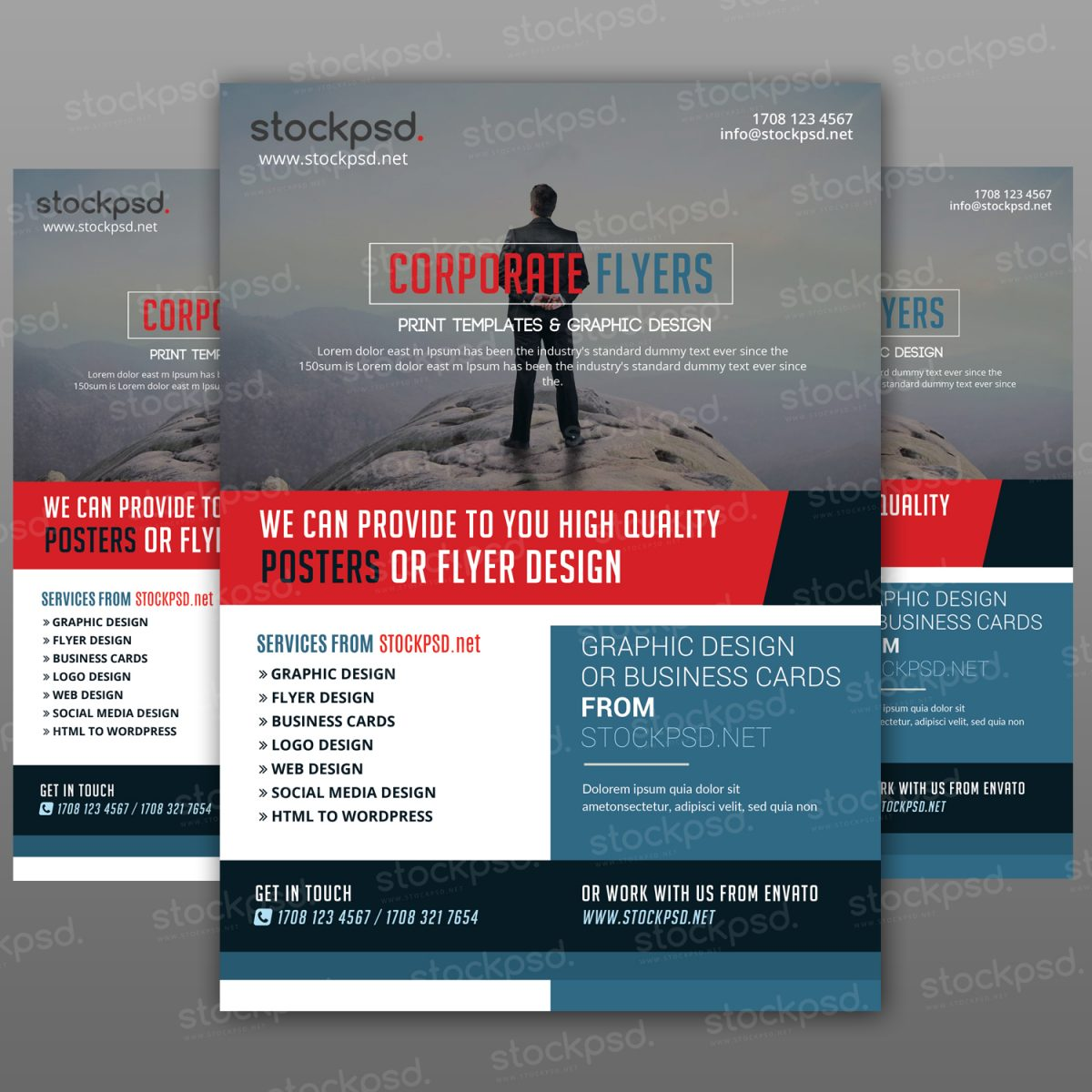 Corporate Flyer Freebie PSD Template