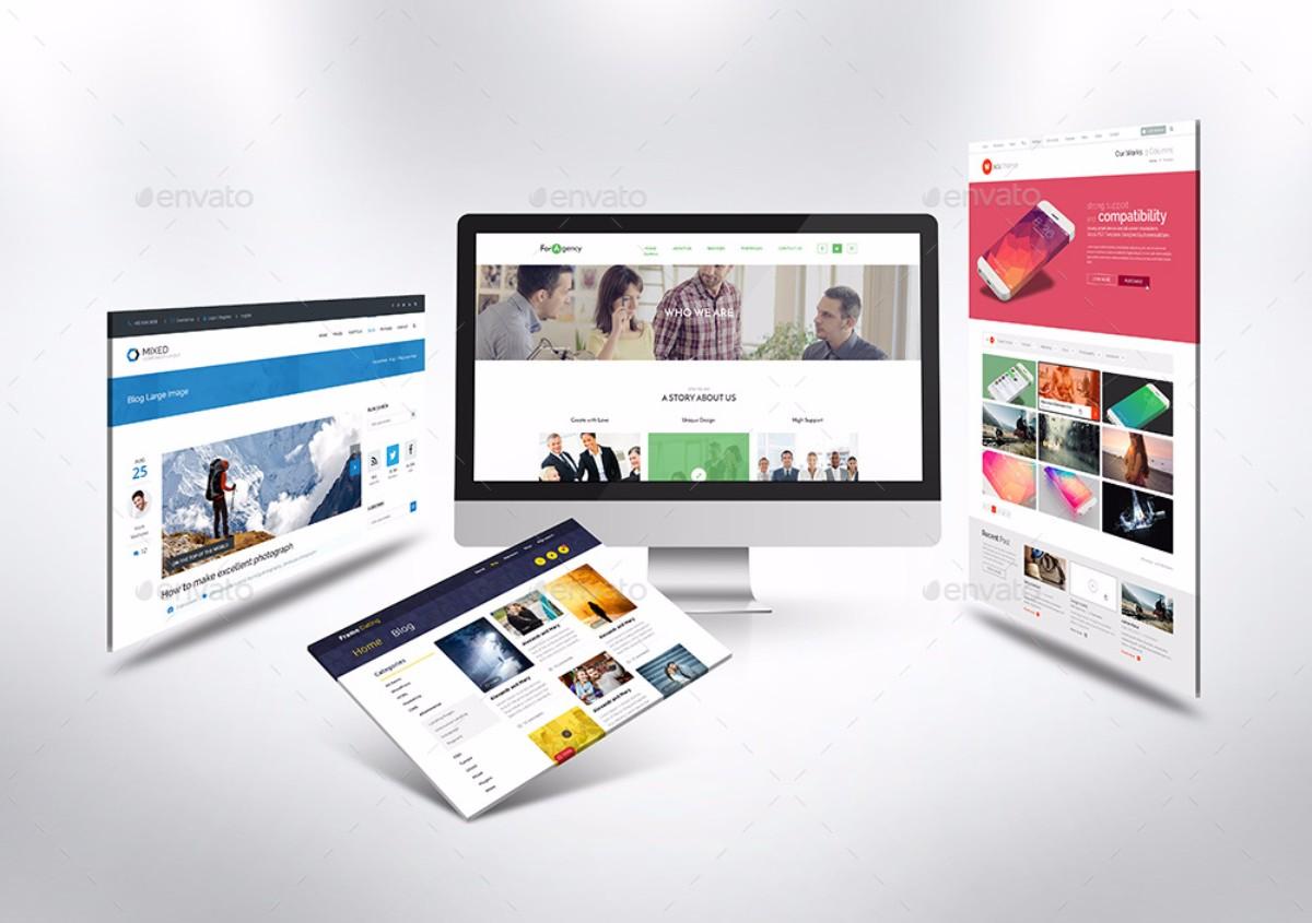 Desktop Website MockUp V1