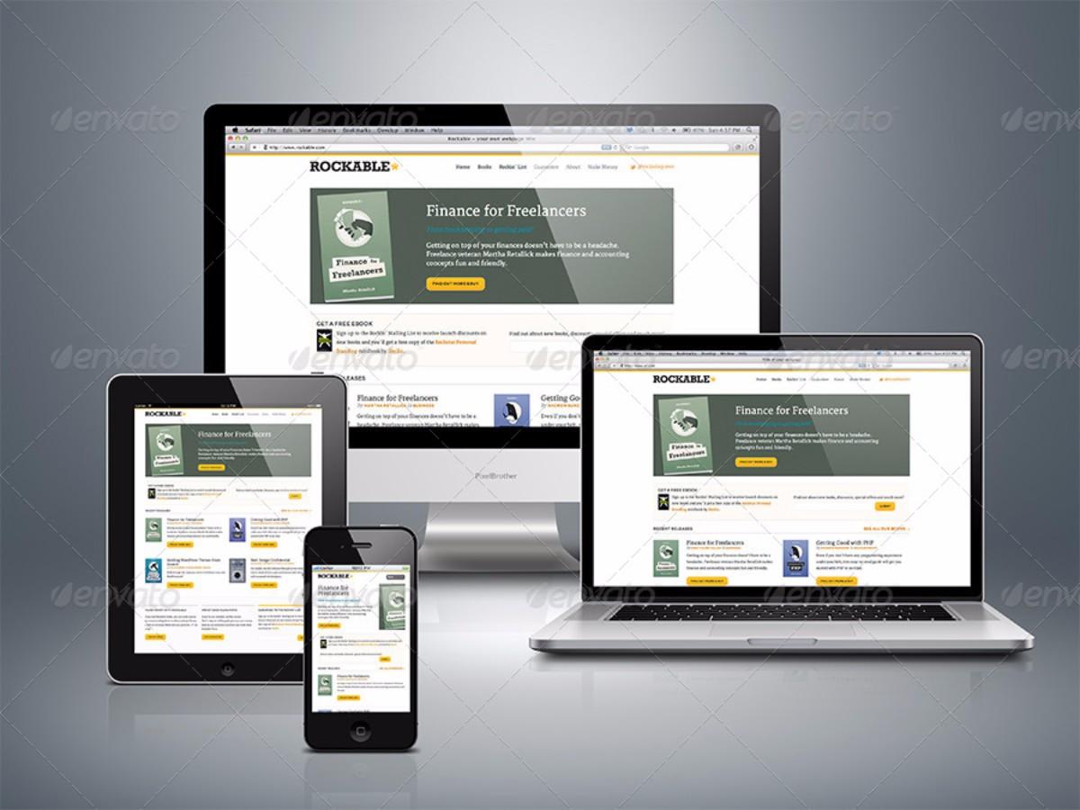 Devices Responsive Web Mock ups