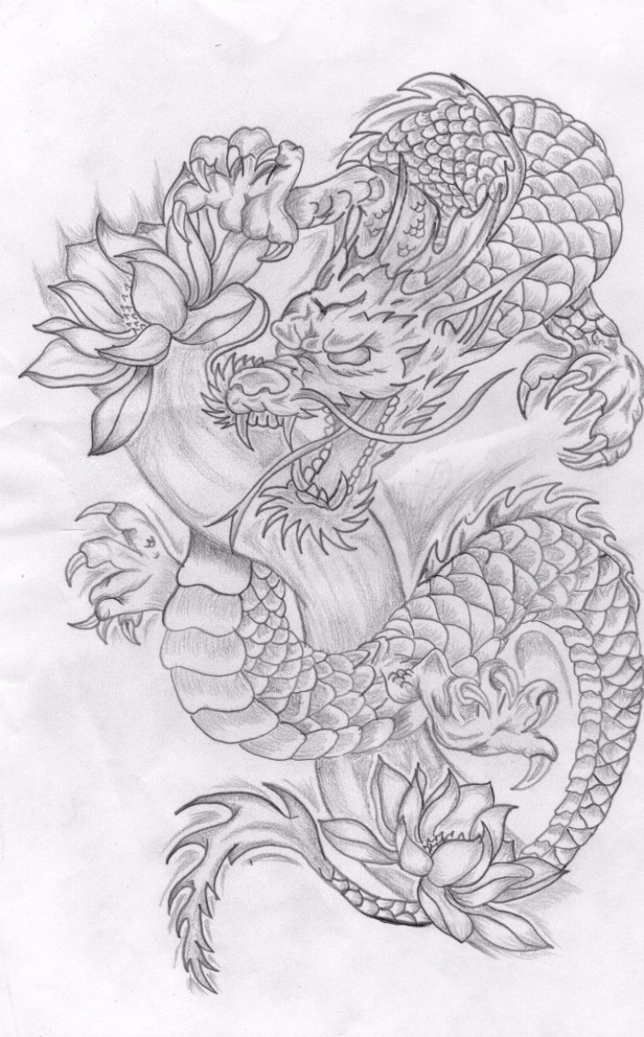 dragon dance drawing