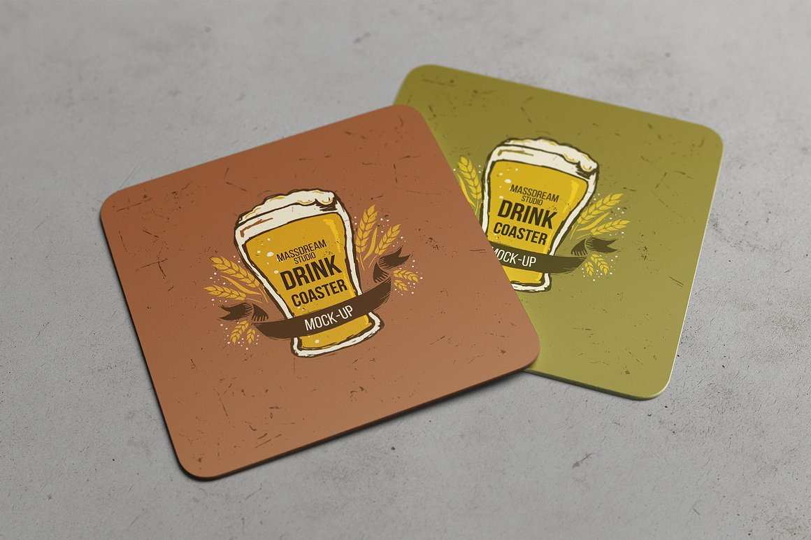 Drink Coaster Mock Up