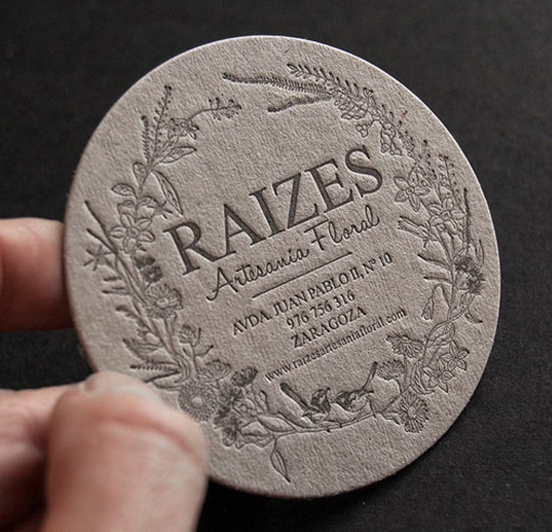 Earthy Circular Business Card