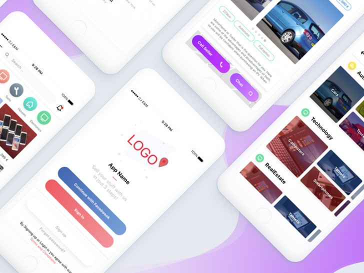 Ecommerce App Template Sketch Resource