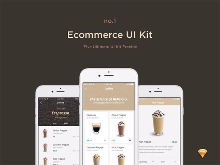 Ecommerce free UI kit