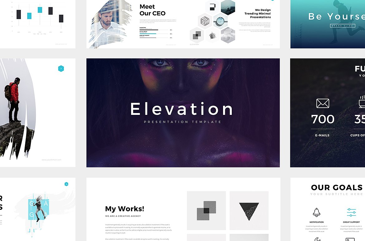 Elevation Clean Minimal Powerpoint Theme