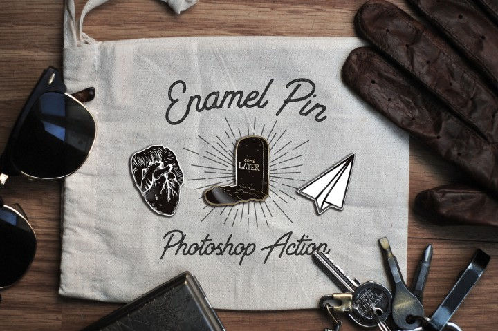 Enamel Pin Photoshop Action