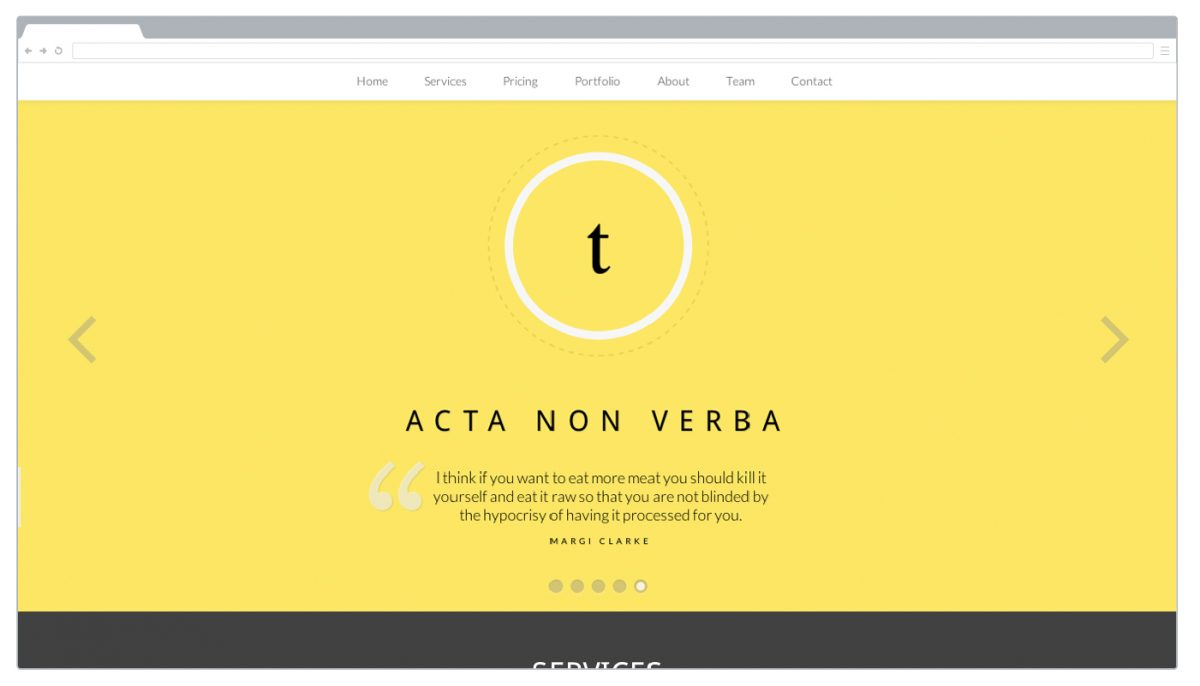 Essentia Free Bootstrap Template
