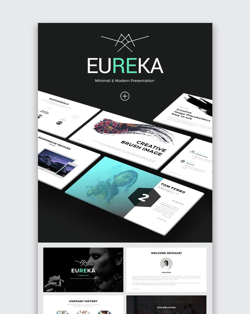 Eureka Modern Minimal PowerPoint Template 2017
