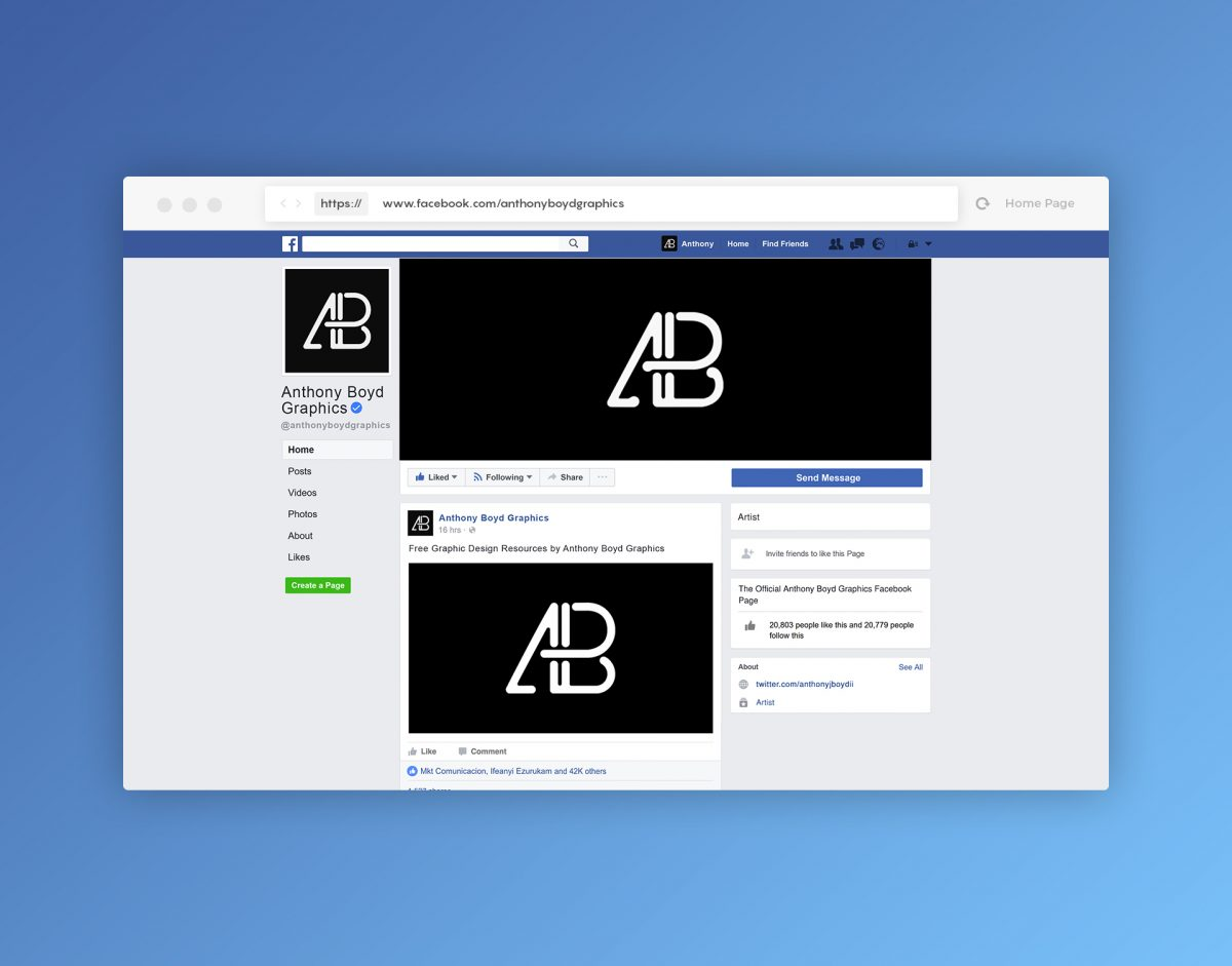 mock facebook page template.html