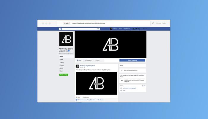 facebook page mockups