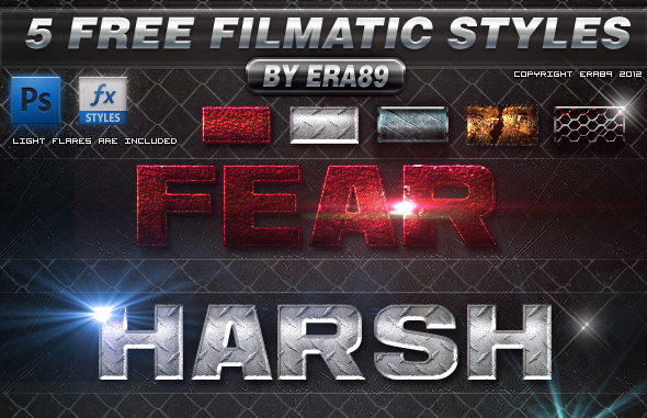 Filmatic Photoshop Styles