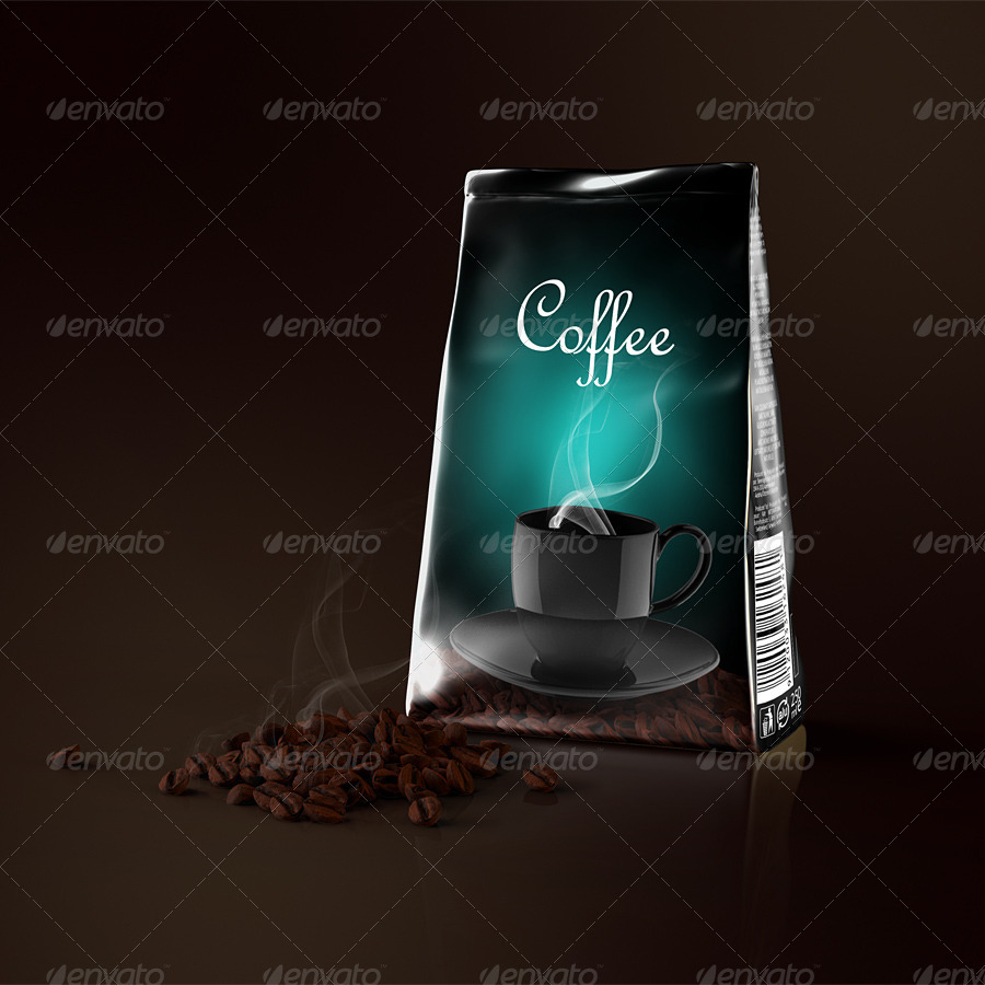 Foil Coffee Bag Mockup