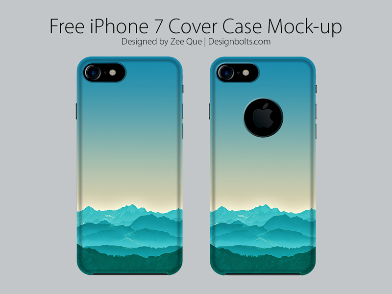 Free Apple iPhone 7 Cover Case Mock Up PSD