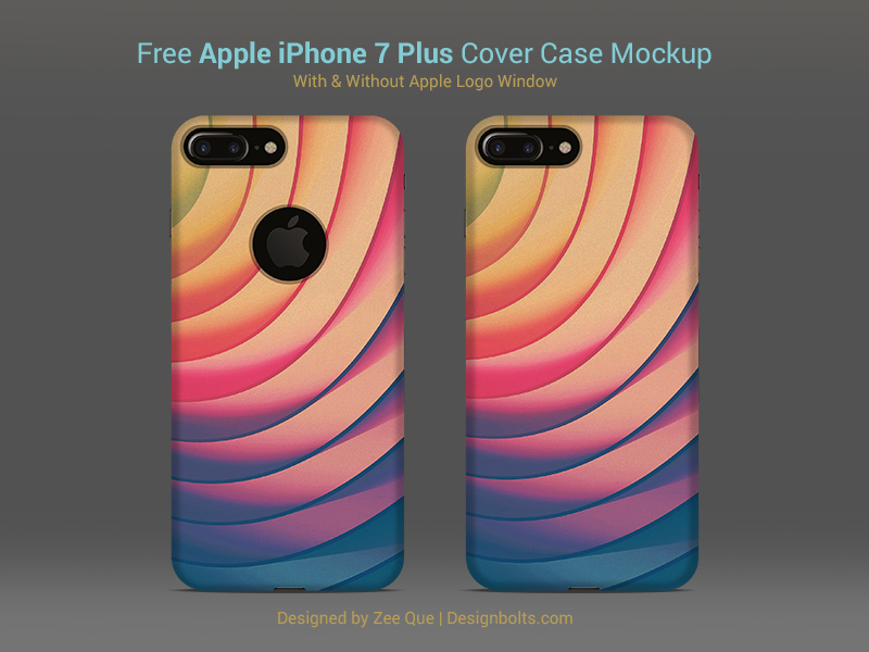 Free Apple Iphone 7 Plus Back Cover Case Mock Up PSD