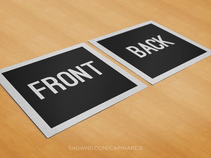 Free Black Square Business Card Mockup
